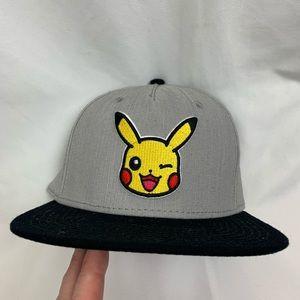 Pokemon Official Pikachu Snapback Hat Poke'mon